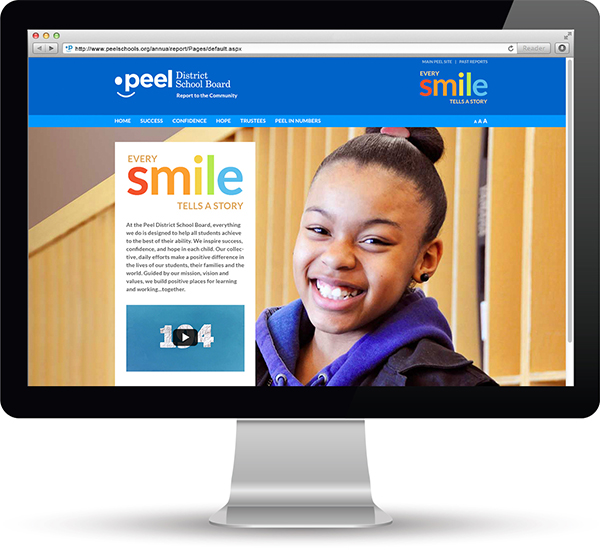 PPeel District School Board - Web Annual Report by 108ideaspace