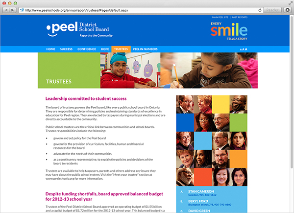 Peel District School Board - Web Annual Report by 108ideaspace