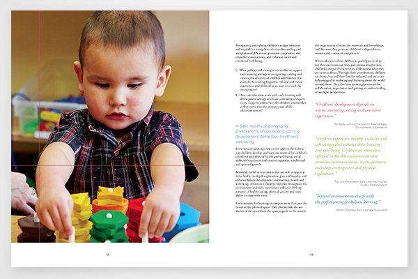 Testimonials for early learning and development framework by Council of Ministers of Education, Canada