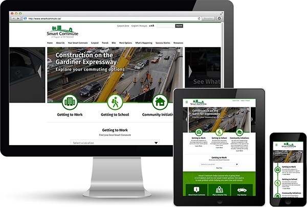 Metrolinx Smart Commute Responsive Website Design by 108 ideaspace